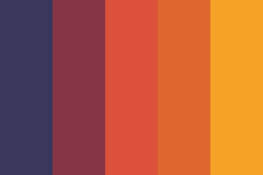 Sunset Over The Mountains Color Palette