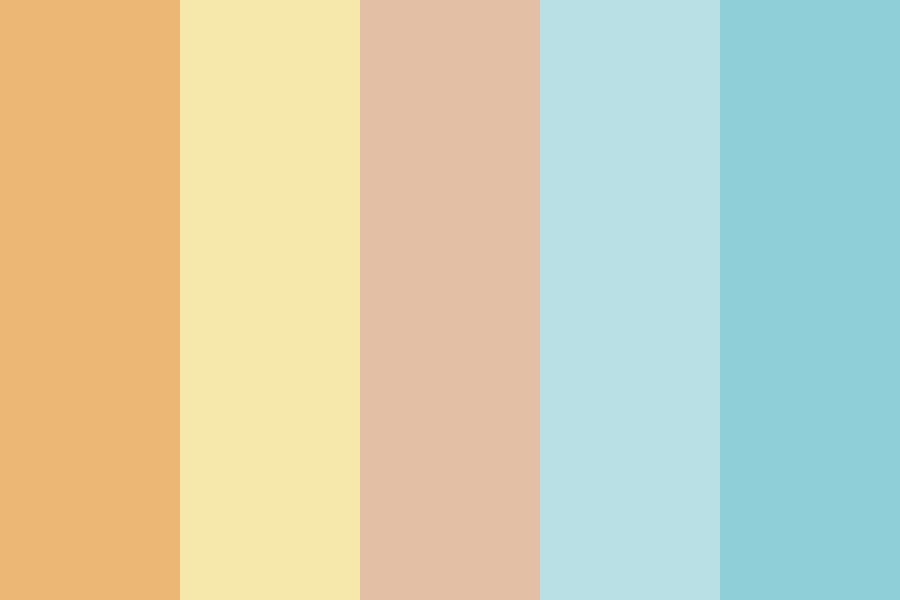 Sunset Over The Sea Color Palette