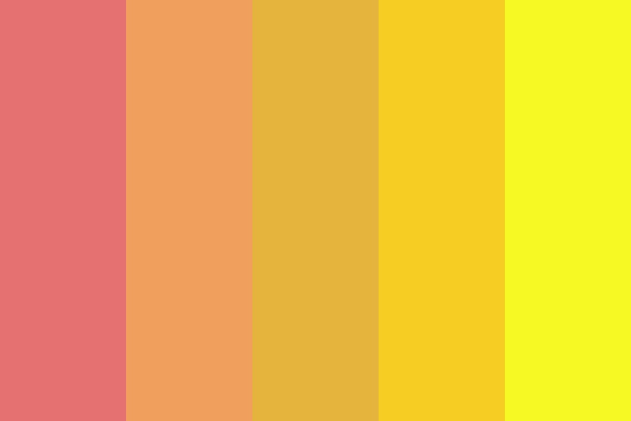 Sunset Sunflower Color Palette