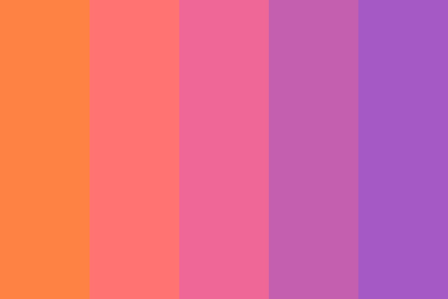 Sunsets In Paradise Color Palette