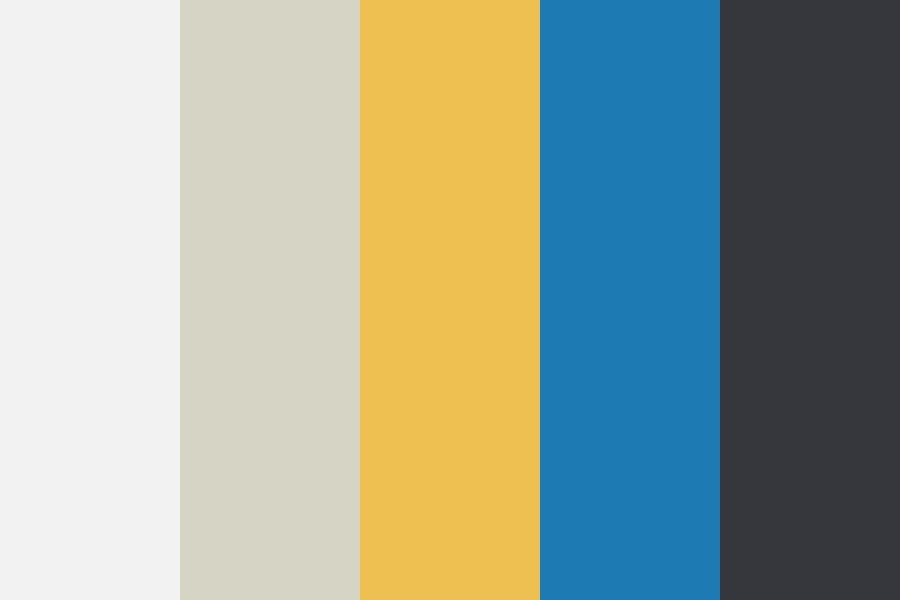 Susana Palette, Blue, Mustard, Black Color Palette