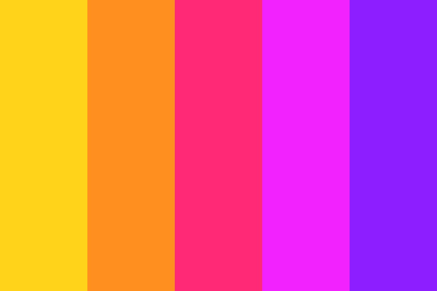 Synthwave Sunset Color Palette