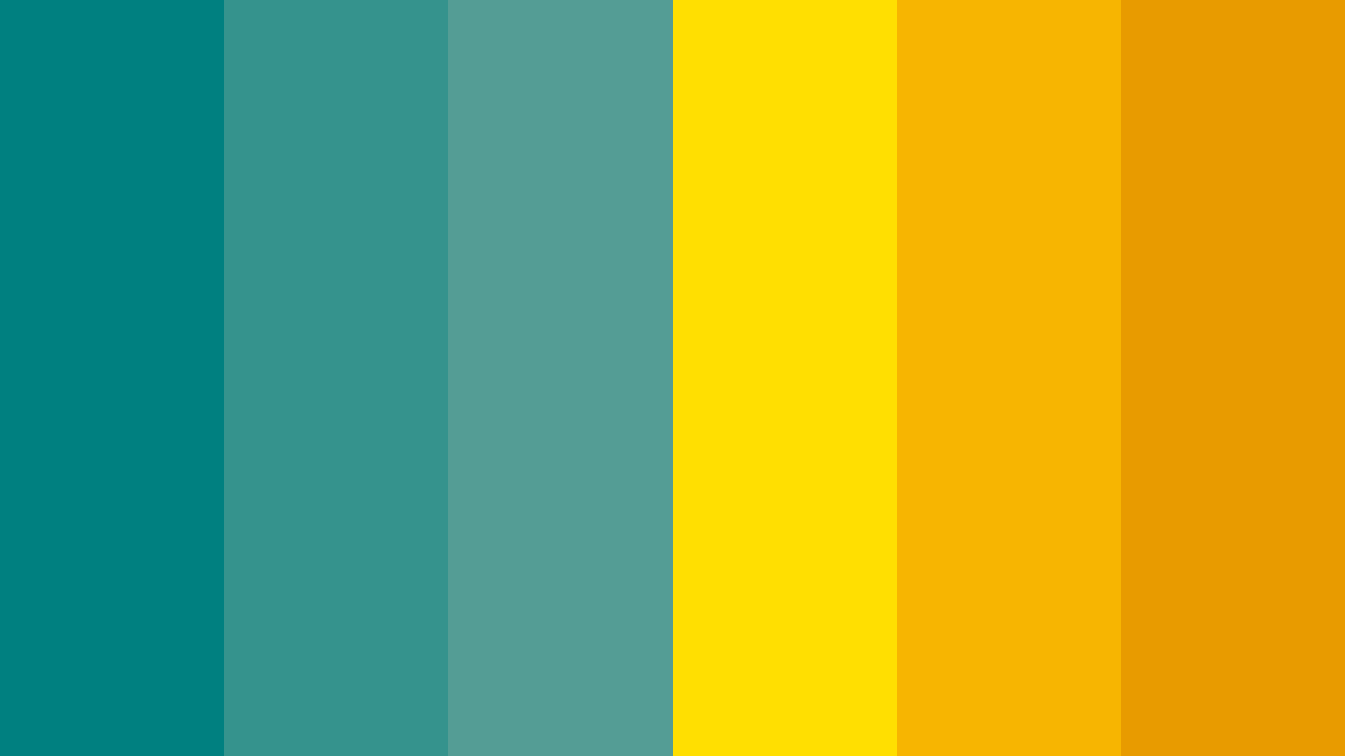 Teal And Gold Color Palette