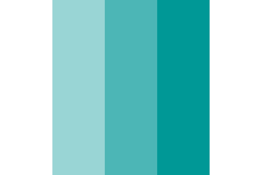 Teal Gradient Color Palette