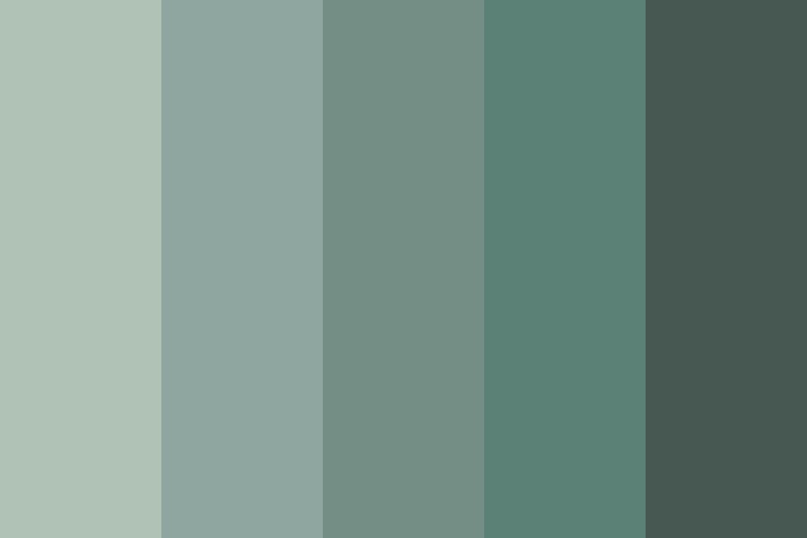 Teal Grey Color Palette