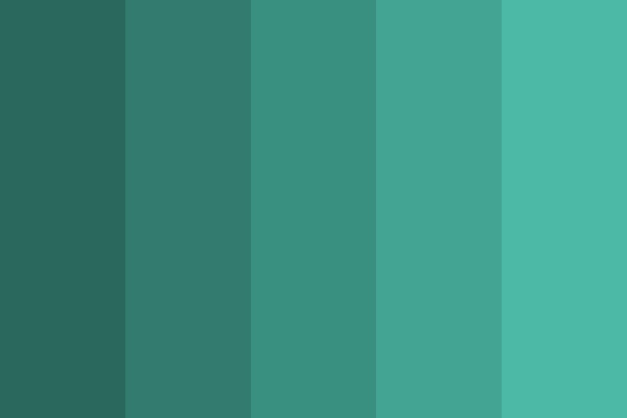 Teal My Heart Color Palette