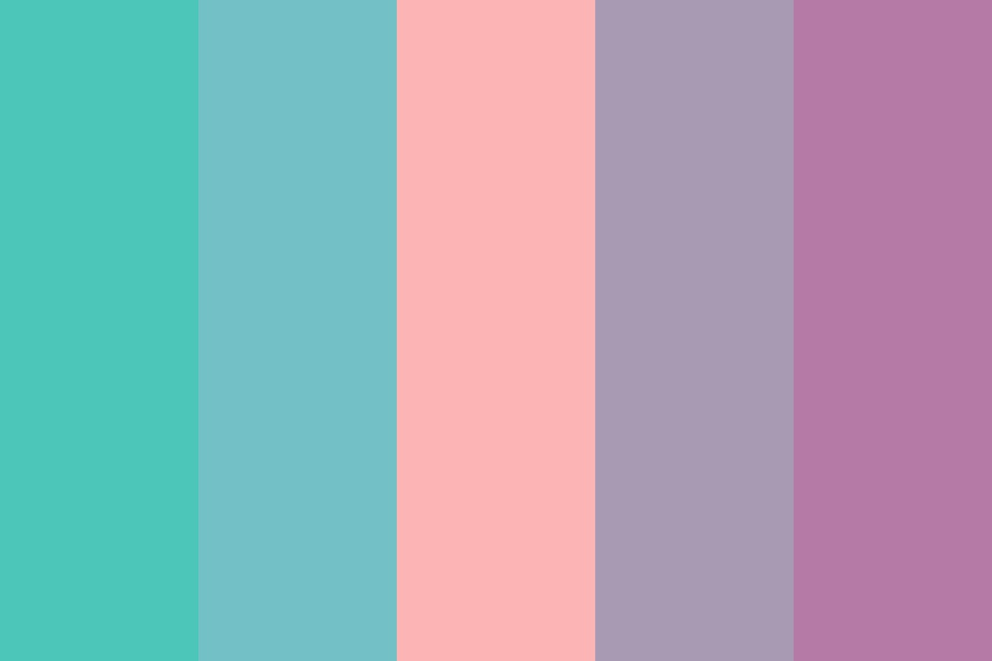 Teal Peach And Purple Color Palette