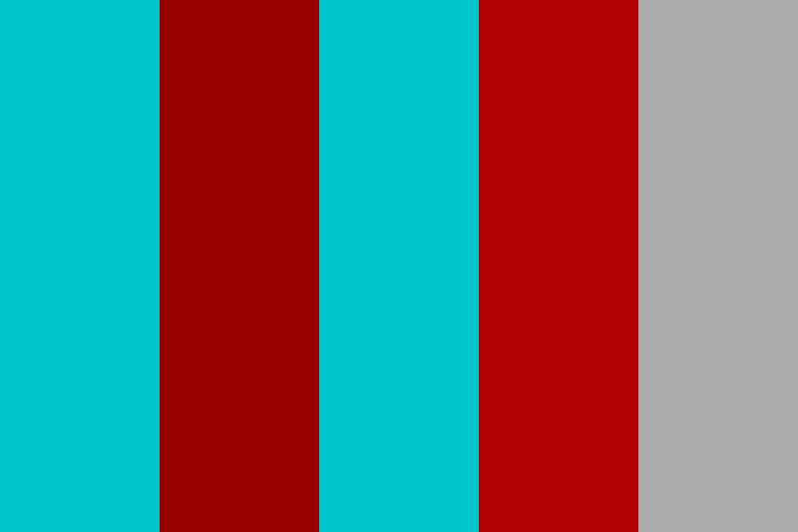 Teals And Red Color Palette