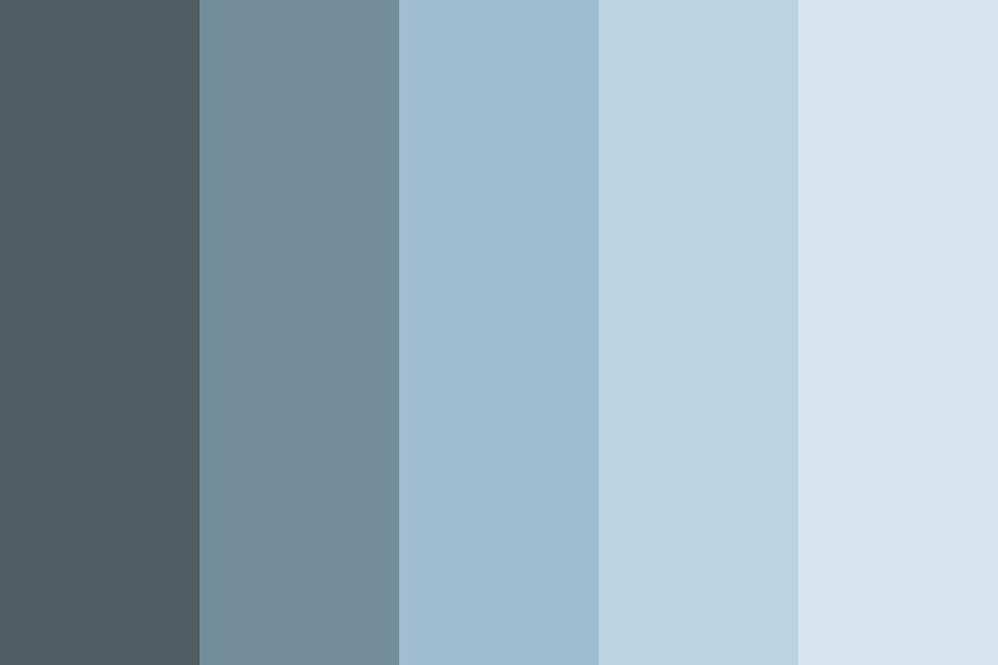 Temporary Iii Blue Color Palette