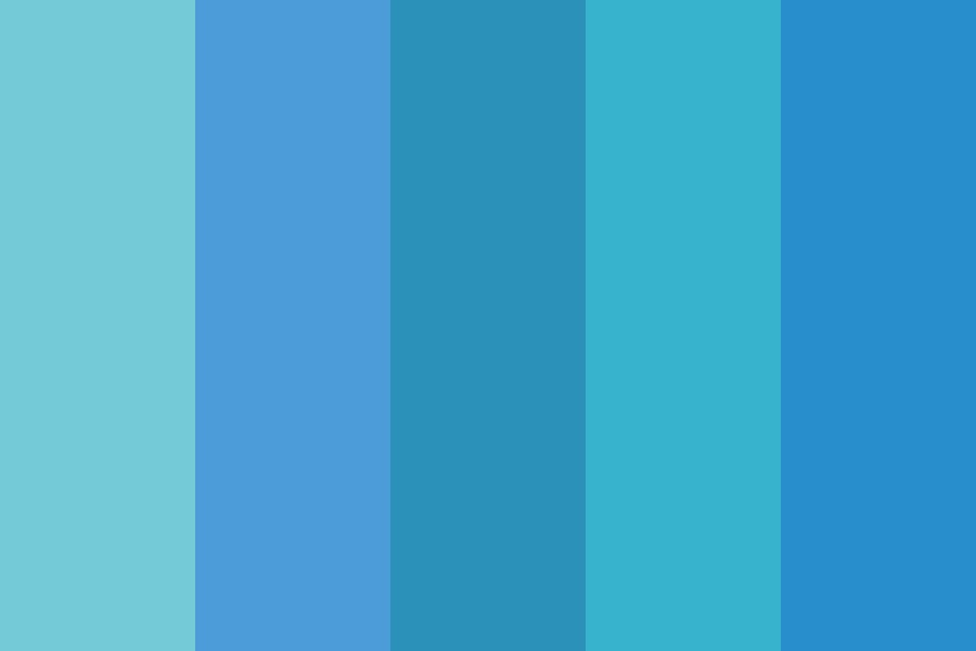 Ten And The Weather Calls For Blue Skies Color Palette