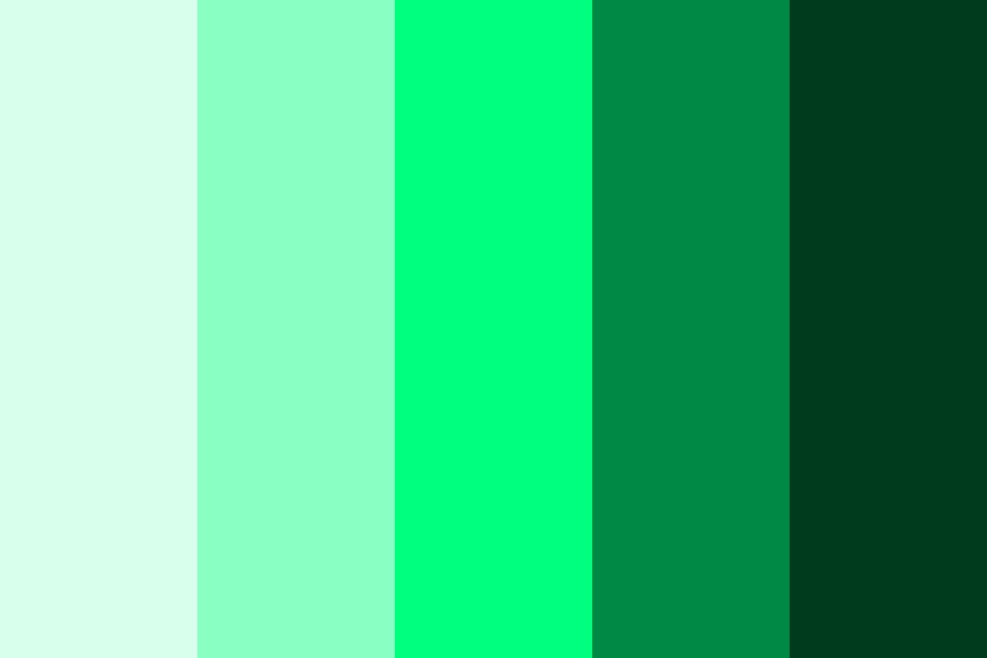 The Color Spring Green Color Palette