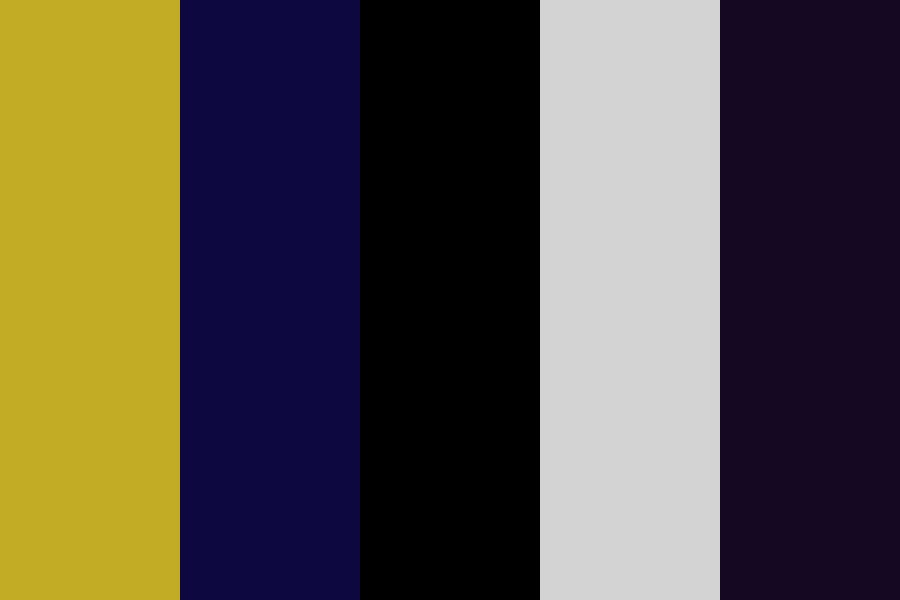 The Golden Freddy Color Palette