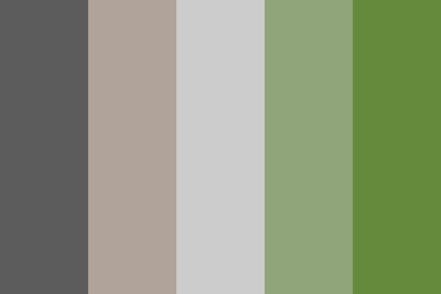 The Greys And Greens Color Palette