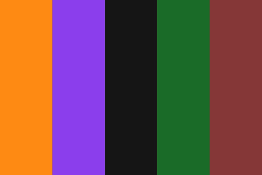 The Halloween Colors Color Palette