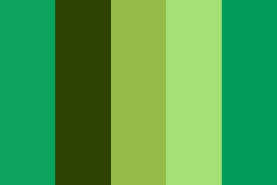 The Ode To Greens Color Palette