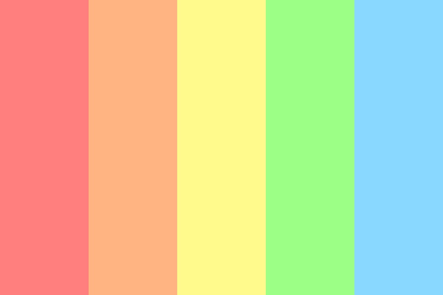 The Pastel Rainbow Color Palette
