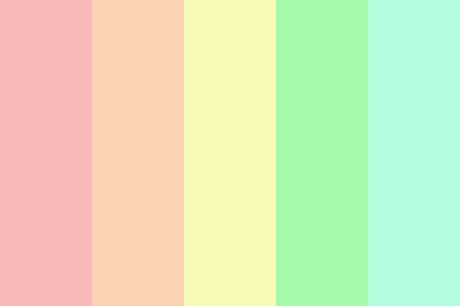 The Pastel Ranbow Color Palette