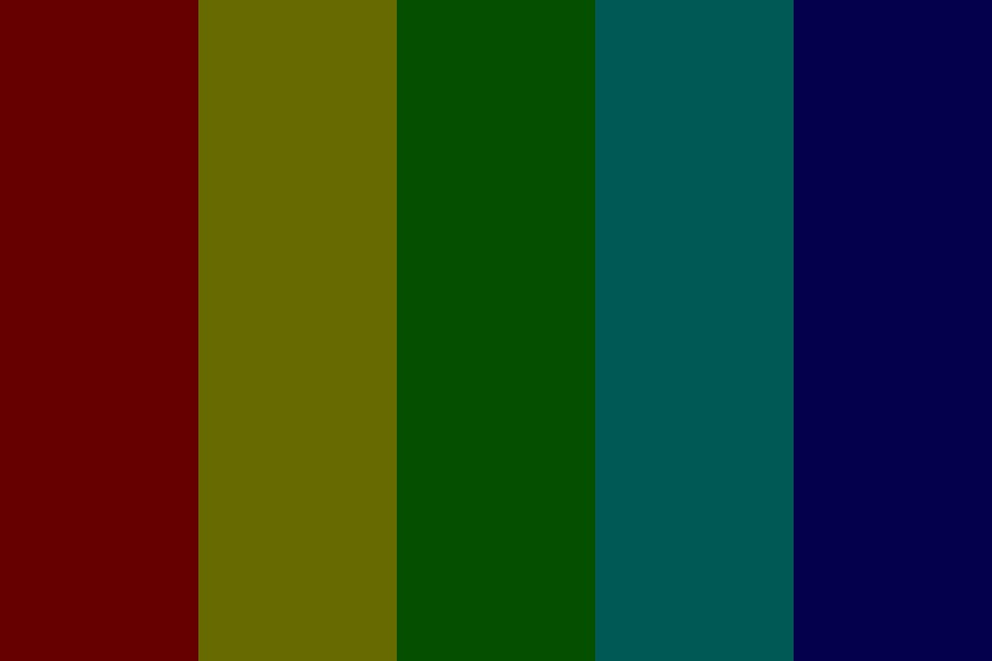 The Rainbow Of Darkness Color Palette