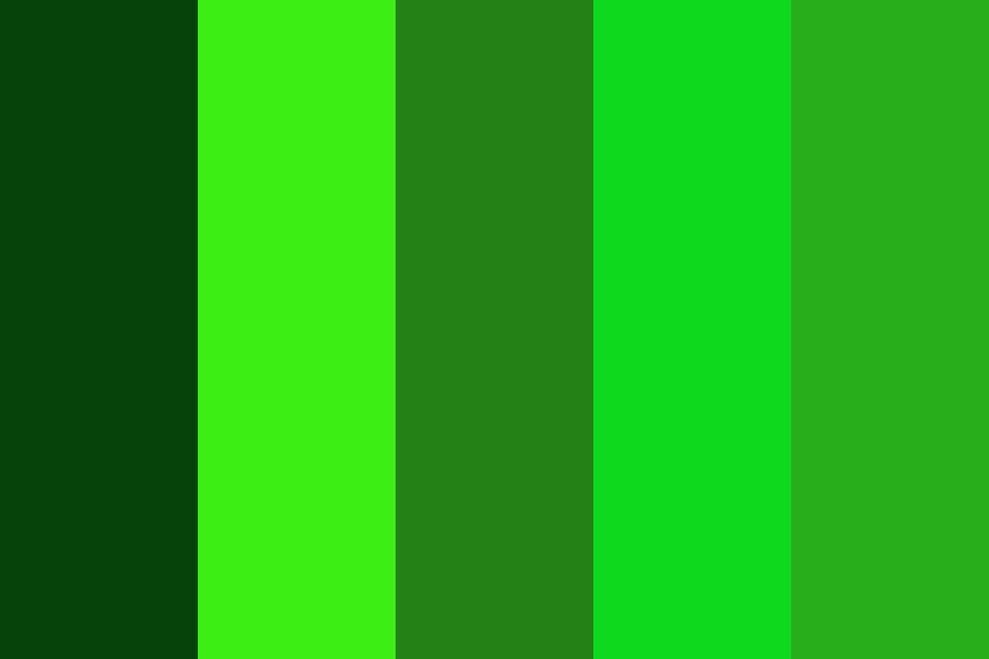 The United States Of Green Color Palette