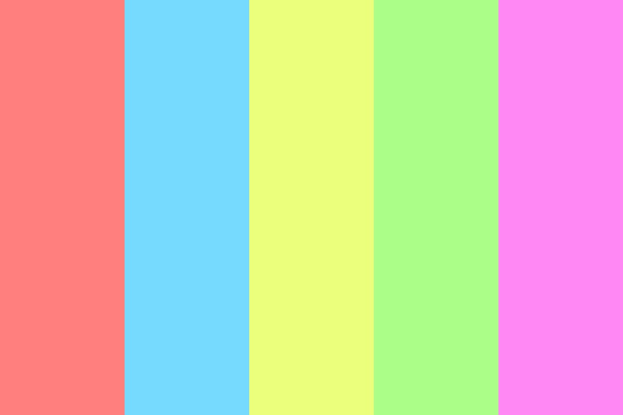 The World Of Pastel Color Palette