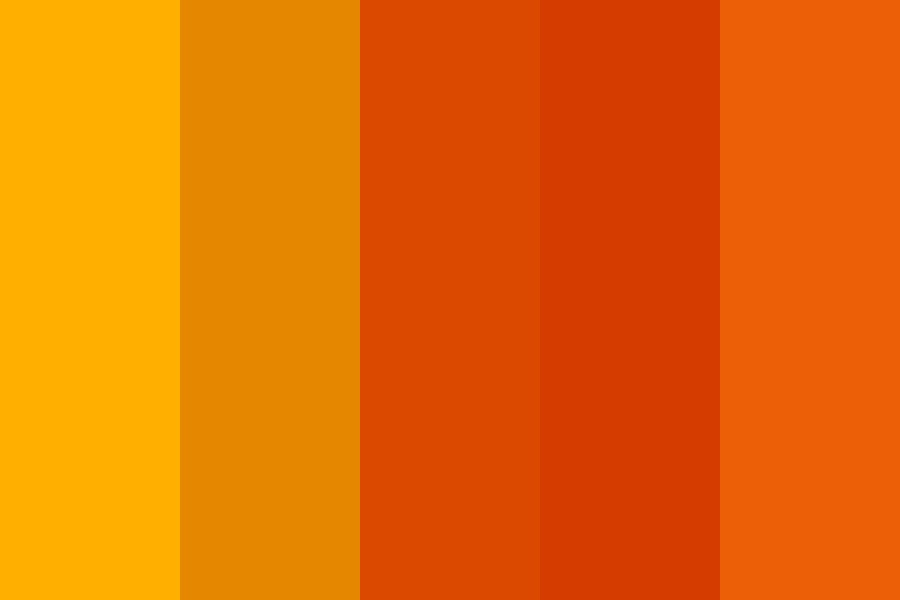 Top Contributor Orange Color Palette