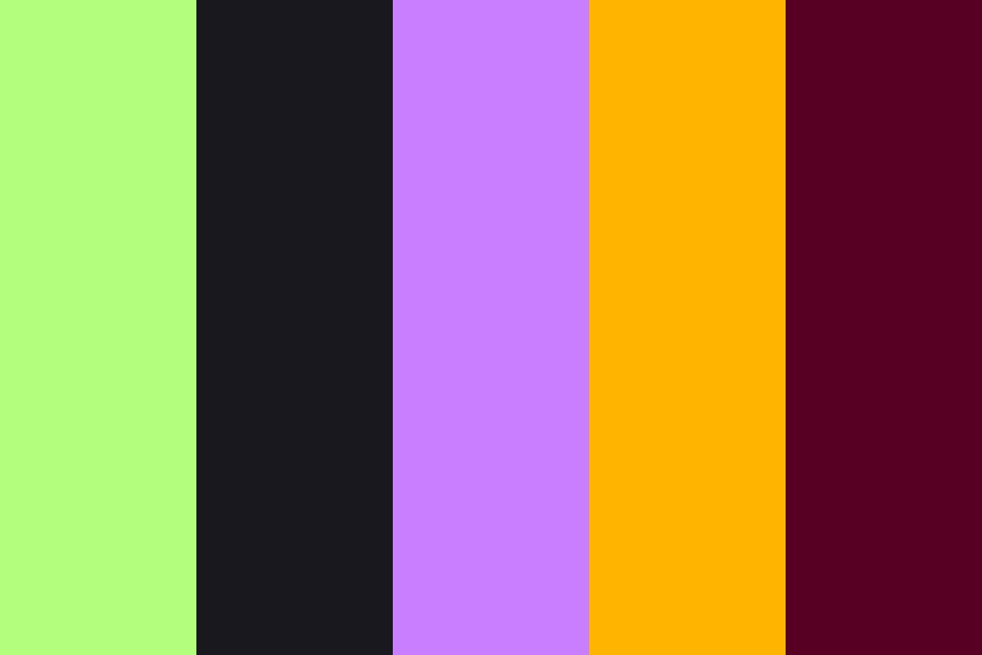 Toxic Halloween Candy Color Palette