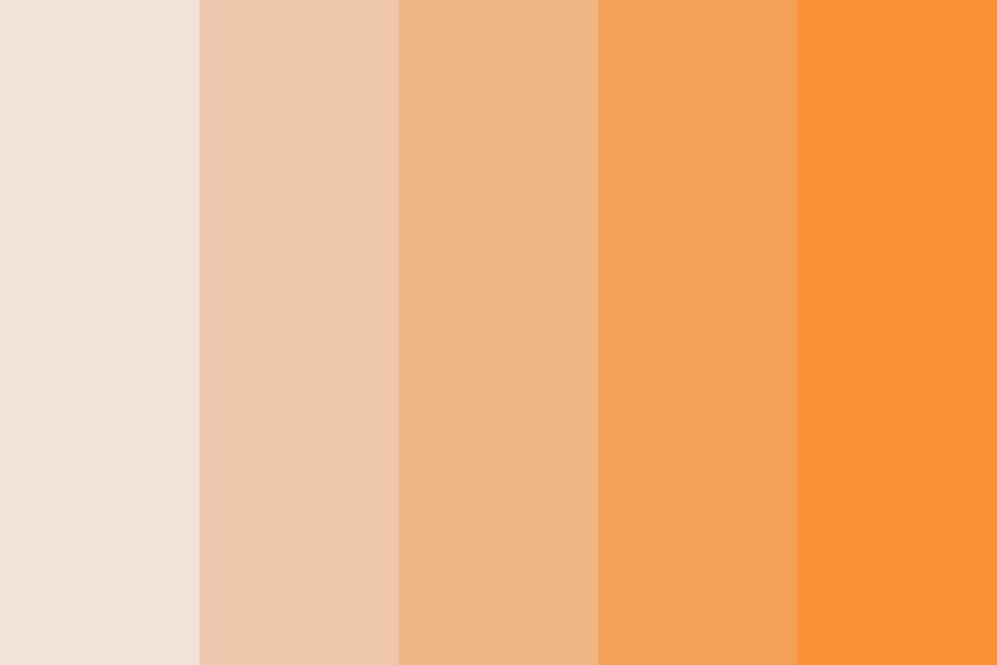 Trajectory Peach Color Palette