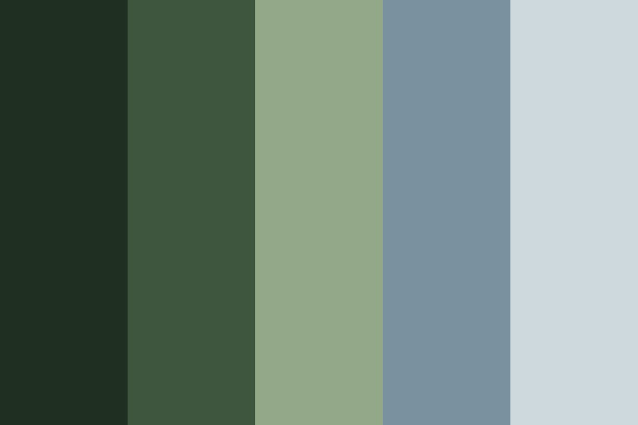 Trees And Oceans Color Palette