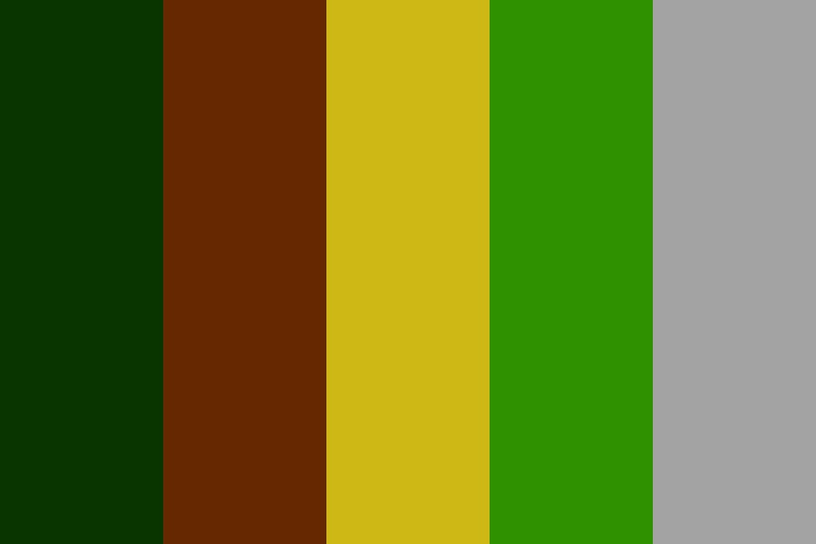 Trees In Forest Color Palette