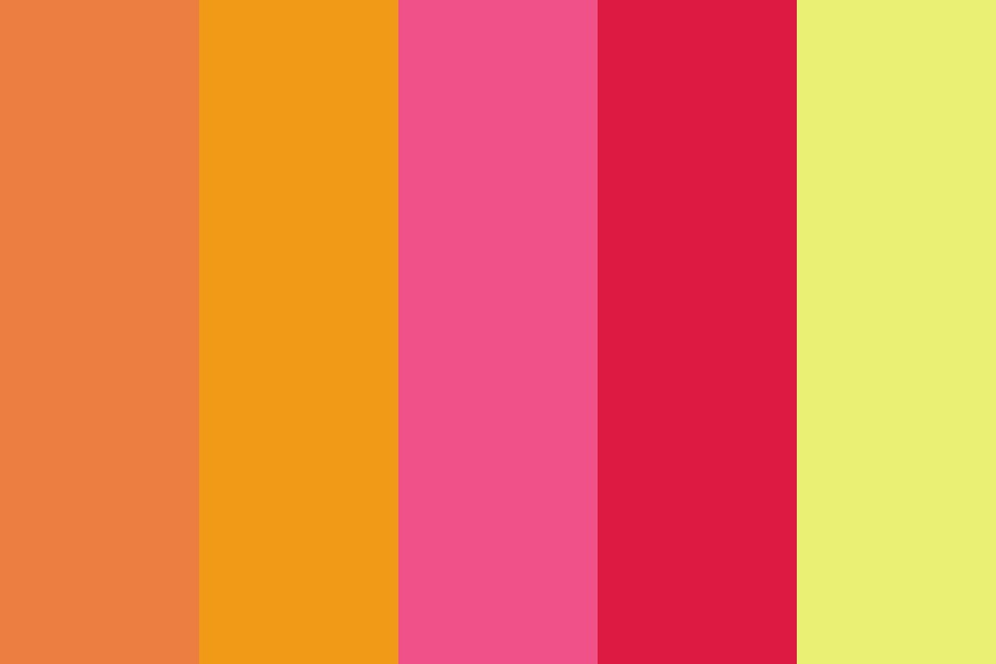 Tropical Beach Sunset Color Palette