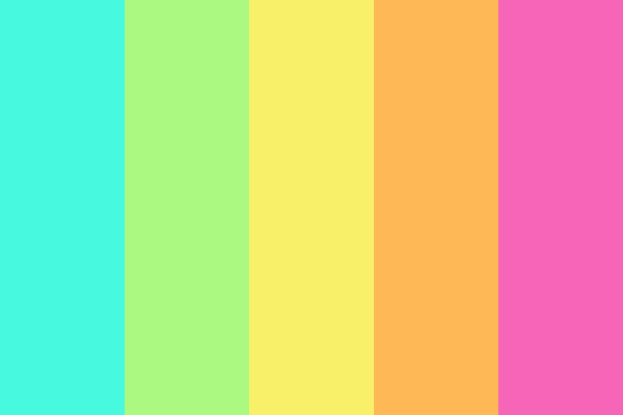 Tropical Candy Color Palette