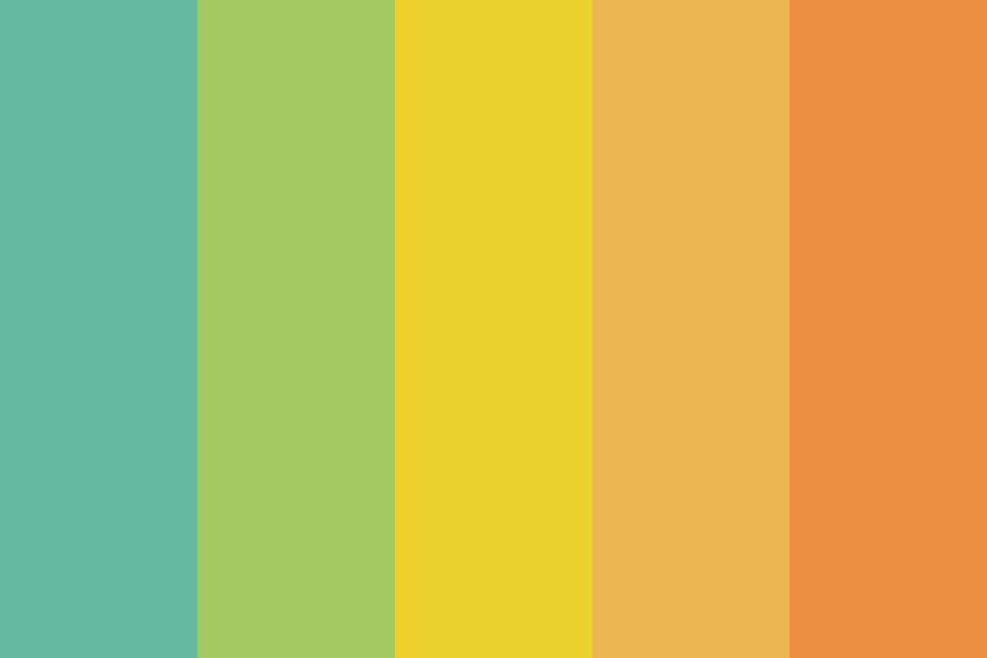 Tropical Geko Color Palette