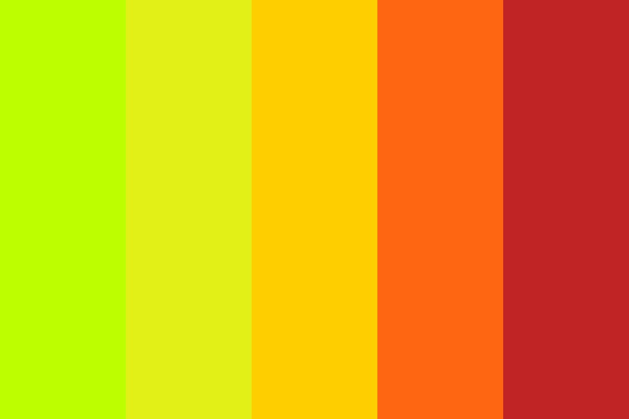 Tropical Heat Color Palette