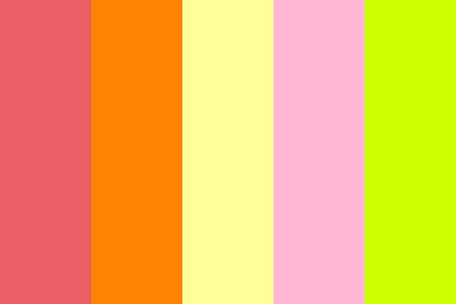 Tropical Shorts Color Palette
