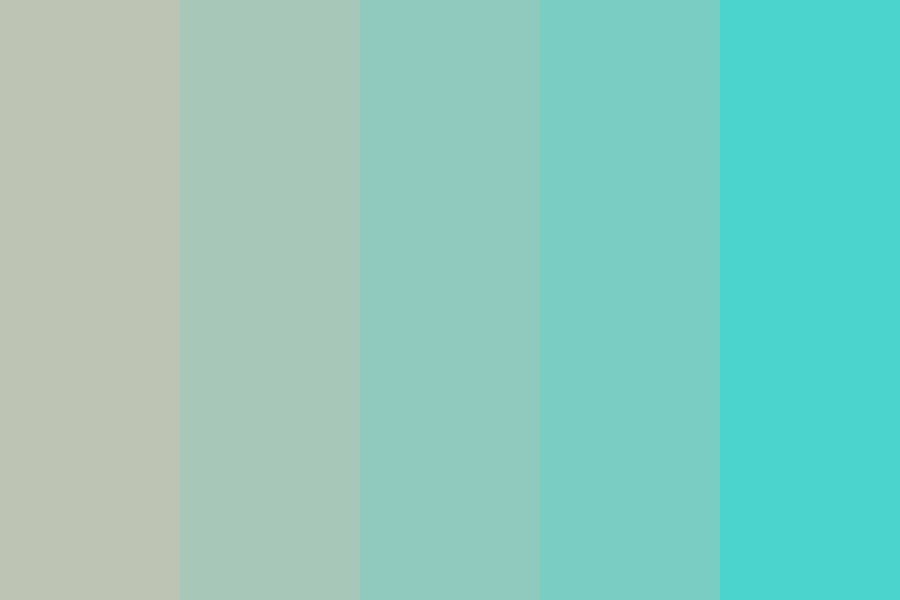 Turn On Turquoise Color Palette