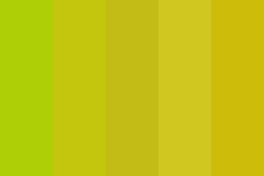 Turning Yellow Color Palette