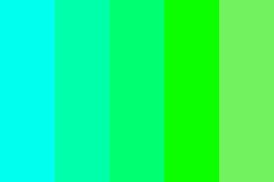 Turquis To Green Color Palette