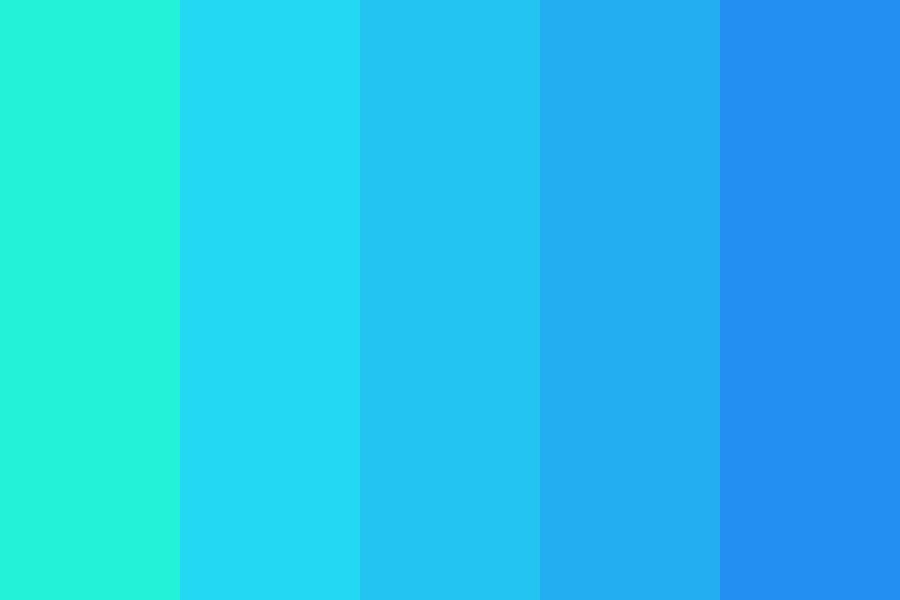 Turquoise To Periwinkle Color Palette