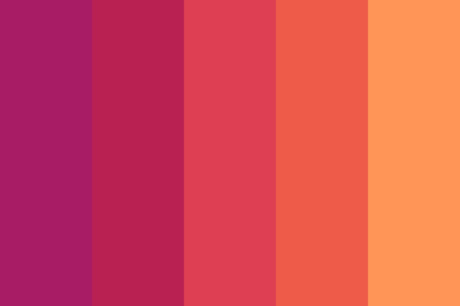 Typical Sunset Color Palette