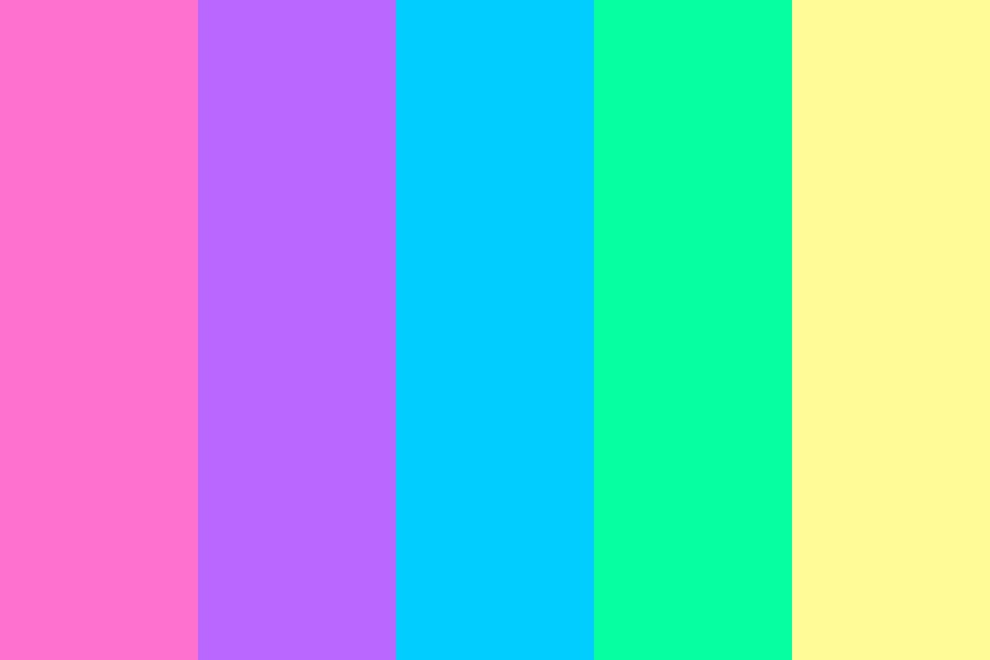 Vaporwave Aesthetics Color Palette