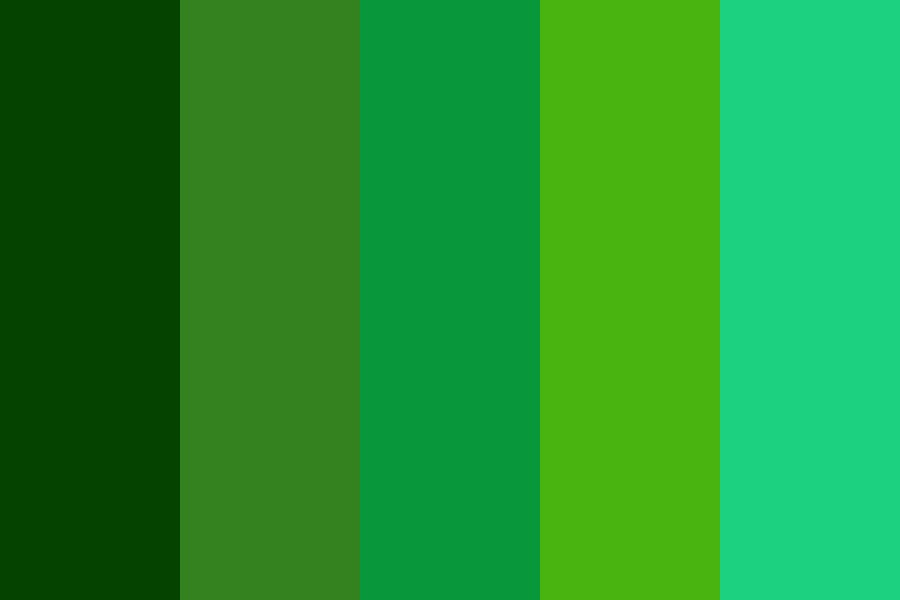 Various Greens Color Palette