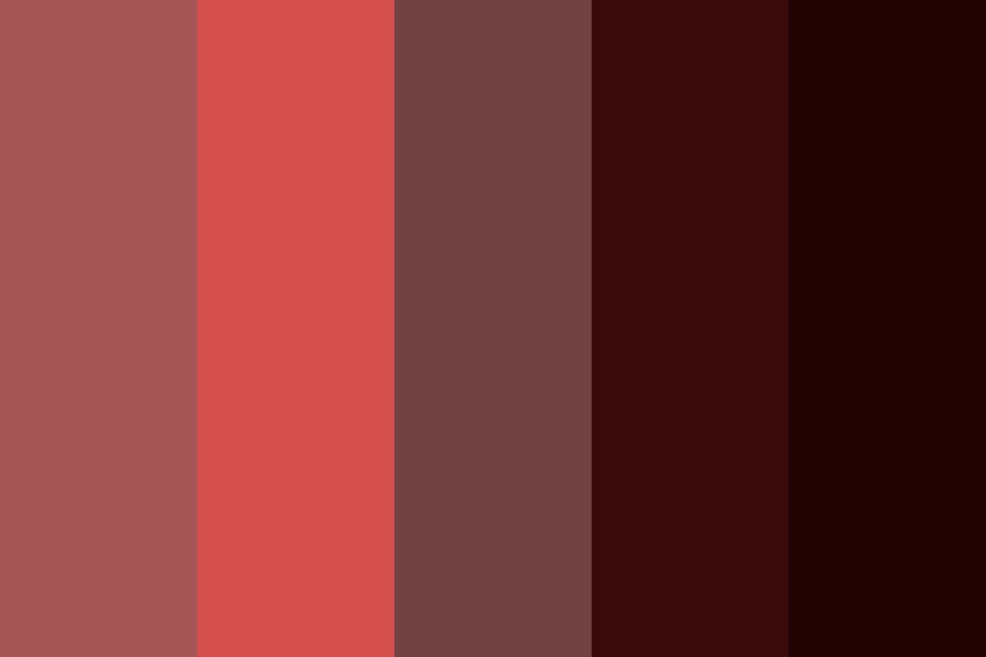 Various Shades Of Red Color Palette