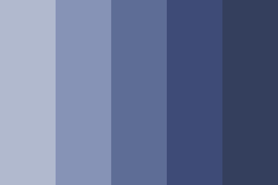 Very Cool Quite Literally   Blues Color Palette
