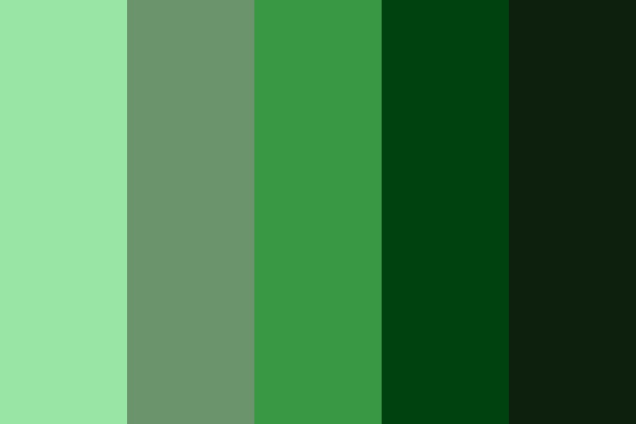 Vintage Greens Color Palette