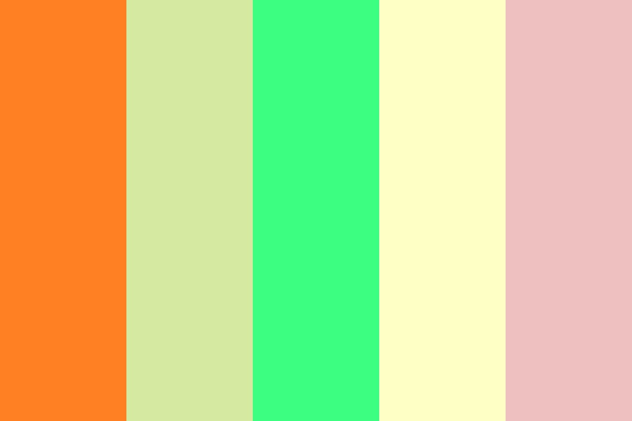 Warm Dancing Color Palette