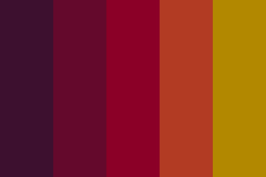 Warm Fall Foliage Dark Color Palette