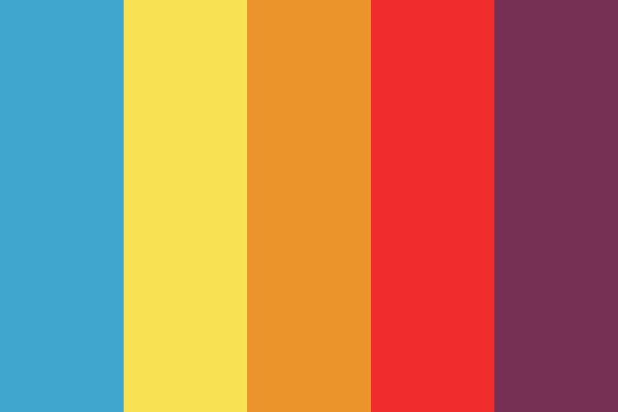 Warning Colours Wildfire Color Palette