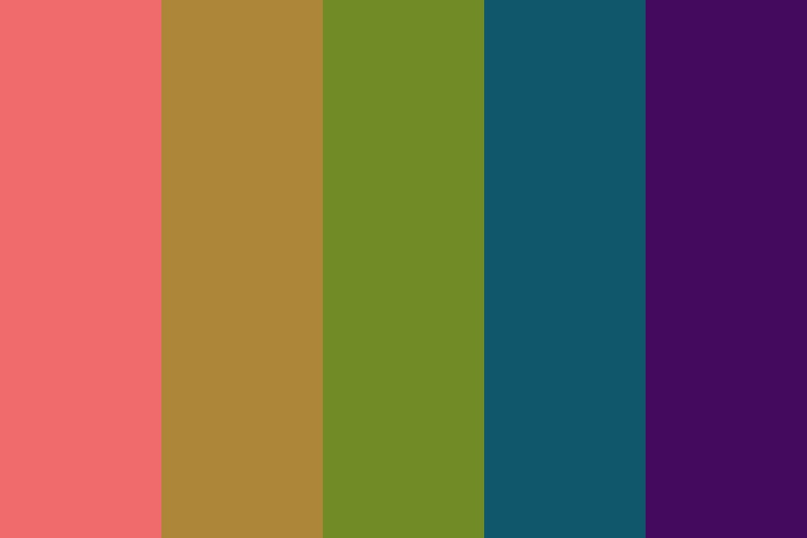 Warped Rainbow Color Palette