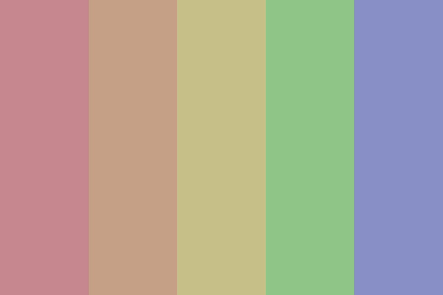 Washed Out Rainbow Color Palette