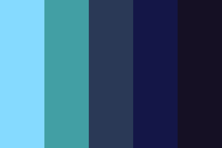 Waterfall At Midnight Color Palette
